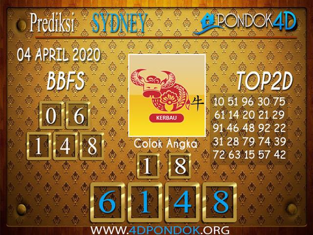 Prediksi Togel SYDNEY PONDOK4D 04 APRIL 2020