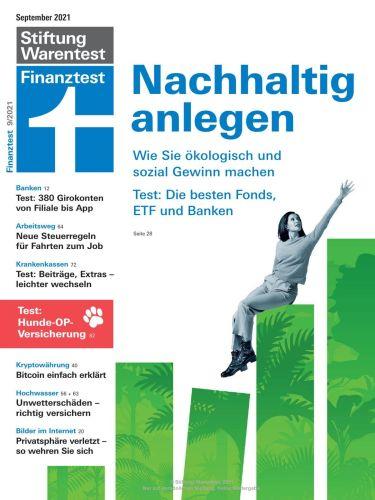 Cover: Stiftung Warentest Finanztest Magazin No 09 September 2021