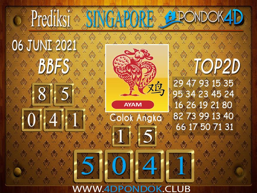 Prediksi Togel SINGAPORE PONDOK4D 06 JUNI 2021