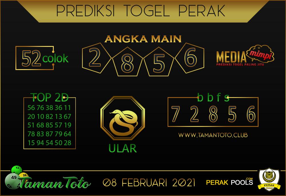 Prediksi Togel PERAK TAMAN TOTO 08 FEBRUARI 2021
