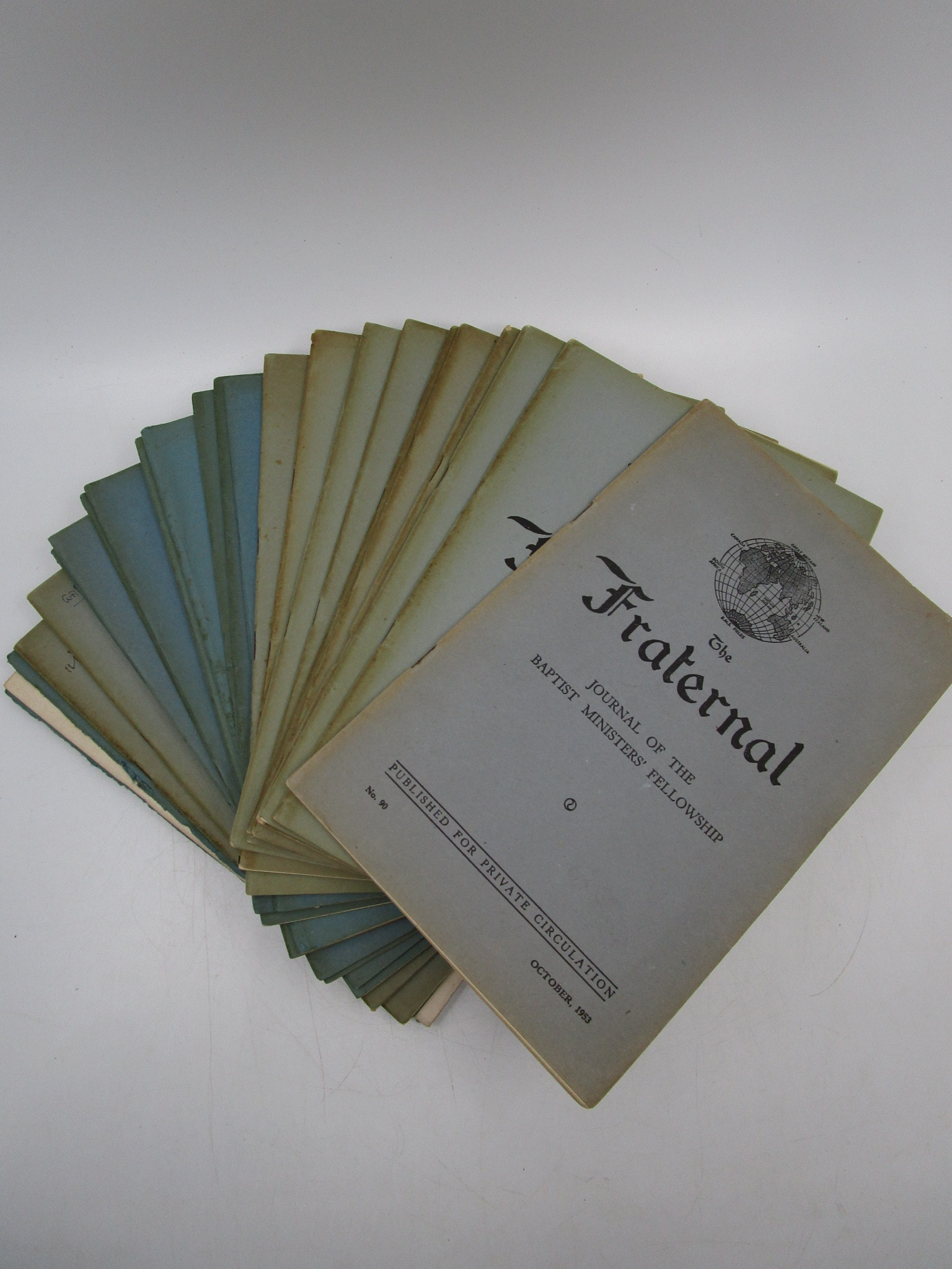 Image for The Fraternal: Journal of Baptist Ministers' Fellowship (21 Various Issues, From 1953-1965)
