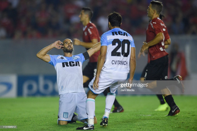 AVELLANEDA-ARGENTINA-FEBRUARY-23-Lisandro-Lopez-C-of-Racing-Club-celebrates-with-teammate-Dar-o-Cvit