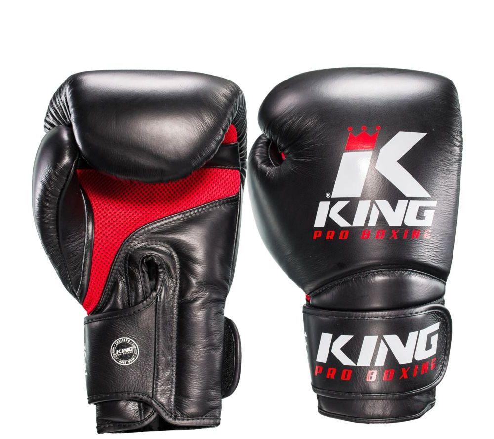 Боксерские перчатки King Pro Boxing Черн / Красн Кожа Таиланд