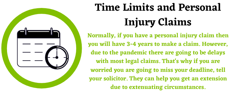 Time Limits and a personal injury claim