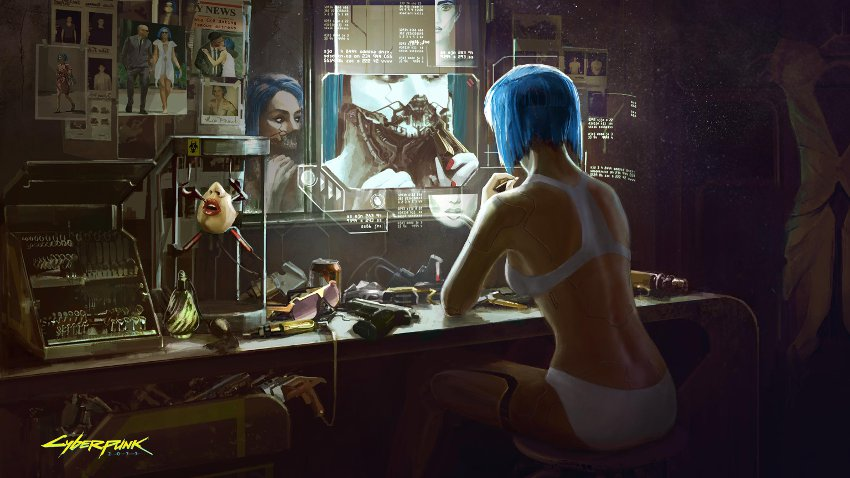 концепт-арт игры cyberpunk 2077