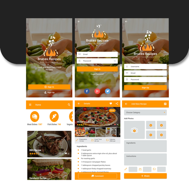 Bruces Recipes - App Ionic Template - 1