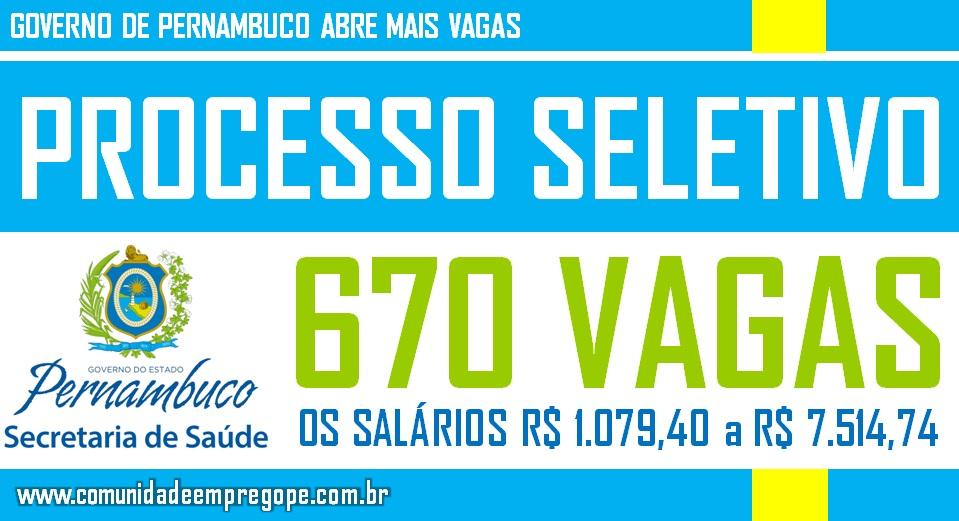 COVID-19 - SECRETÁRIA DE SAÚDE ABRE MAIS 670 VAGAS EM CARÁTER DE EMERGÊNCIA