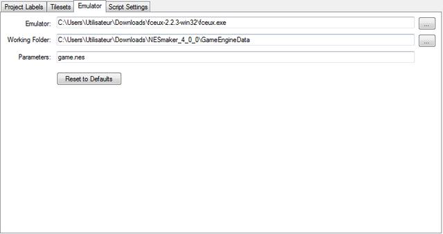 00 Project Settings Emulator