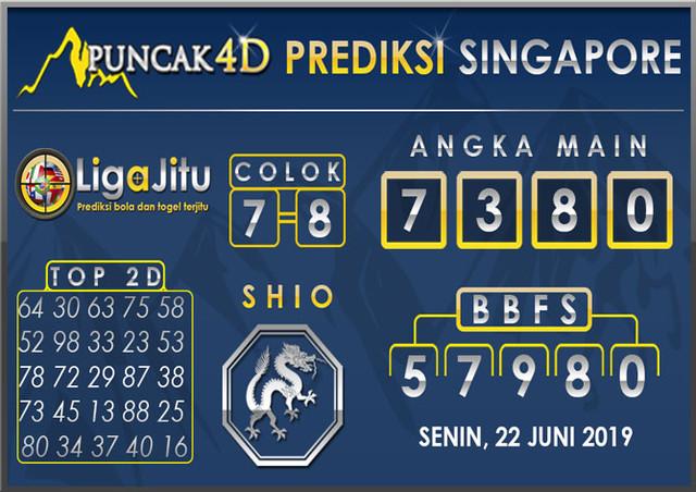 PREDIKSI TOGEL SINGAPORE PUNCAK4D 22 JULI 2019