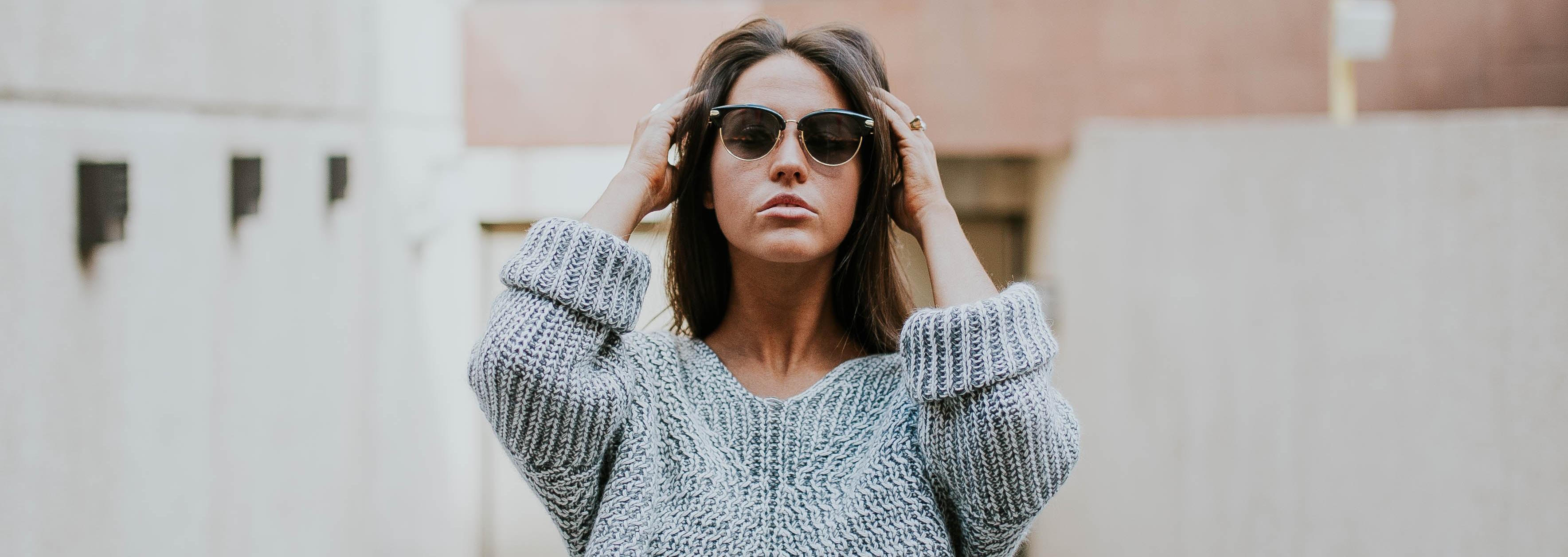 sunglasses wearing
