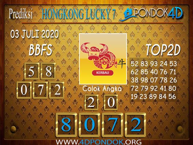 Prediksi Togel HONGKONG LUCKY 7 PONDOK4D 03 JULI 2020