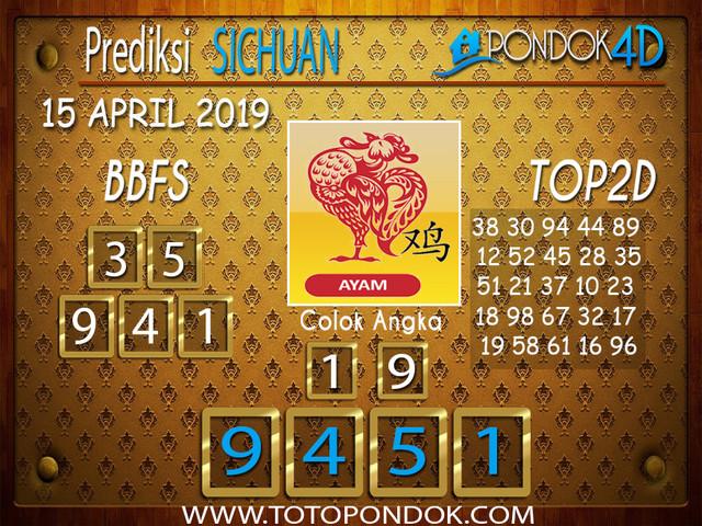 Prediksi Togel SICHUAN PONDOK4D 15 APRIL 2019
