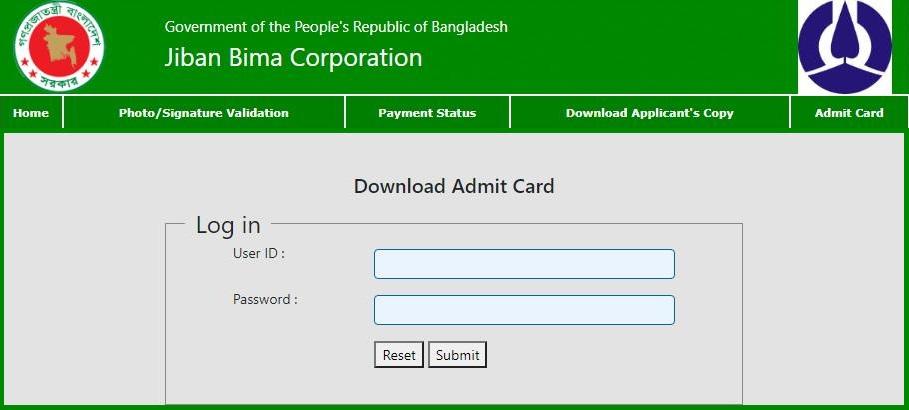 jbc admission card