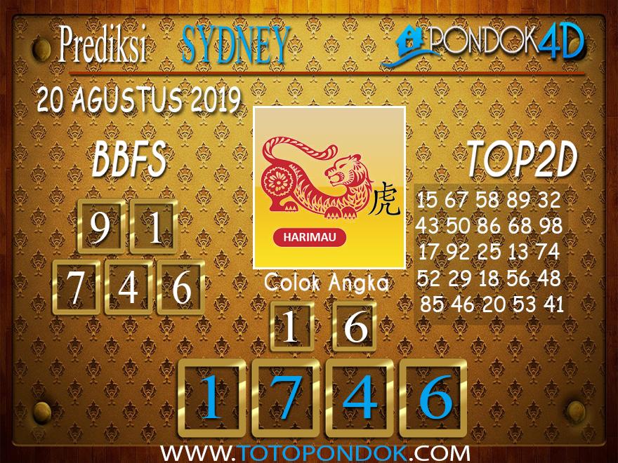 Prediksi Togel SYDNEY PONDOK4D 20 AGUSTUS 2019