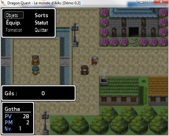 Dragon Quest - Le monde d'Arks (Démo 0.2) (02/08) 2