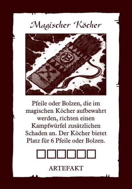 Artefakt-Koecher