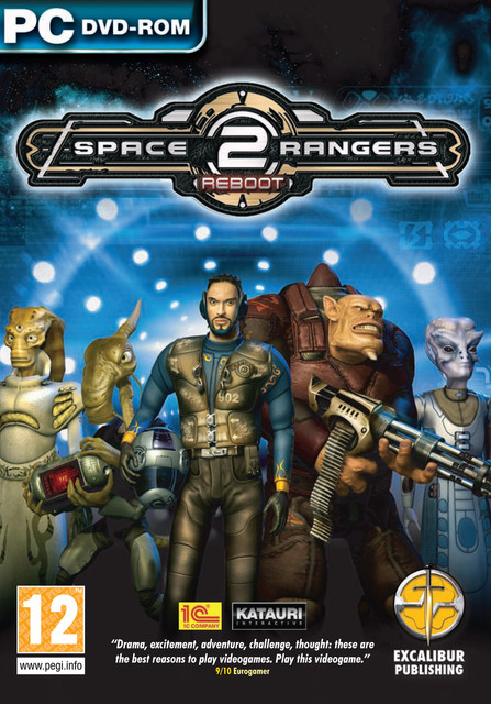 space rangers front game art logo