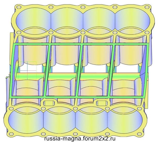 ВАЗ-V8. Восьмицилиндровый из двух вазовских. VAZ-V8-322