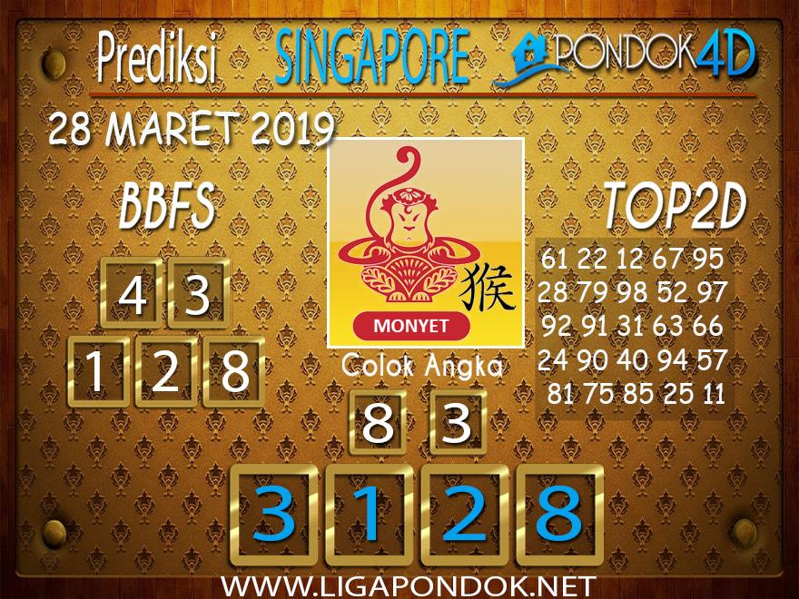 Prediksi Togel SINGAPORE PONDOK4D 28 MARET 2019