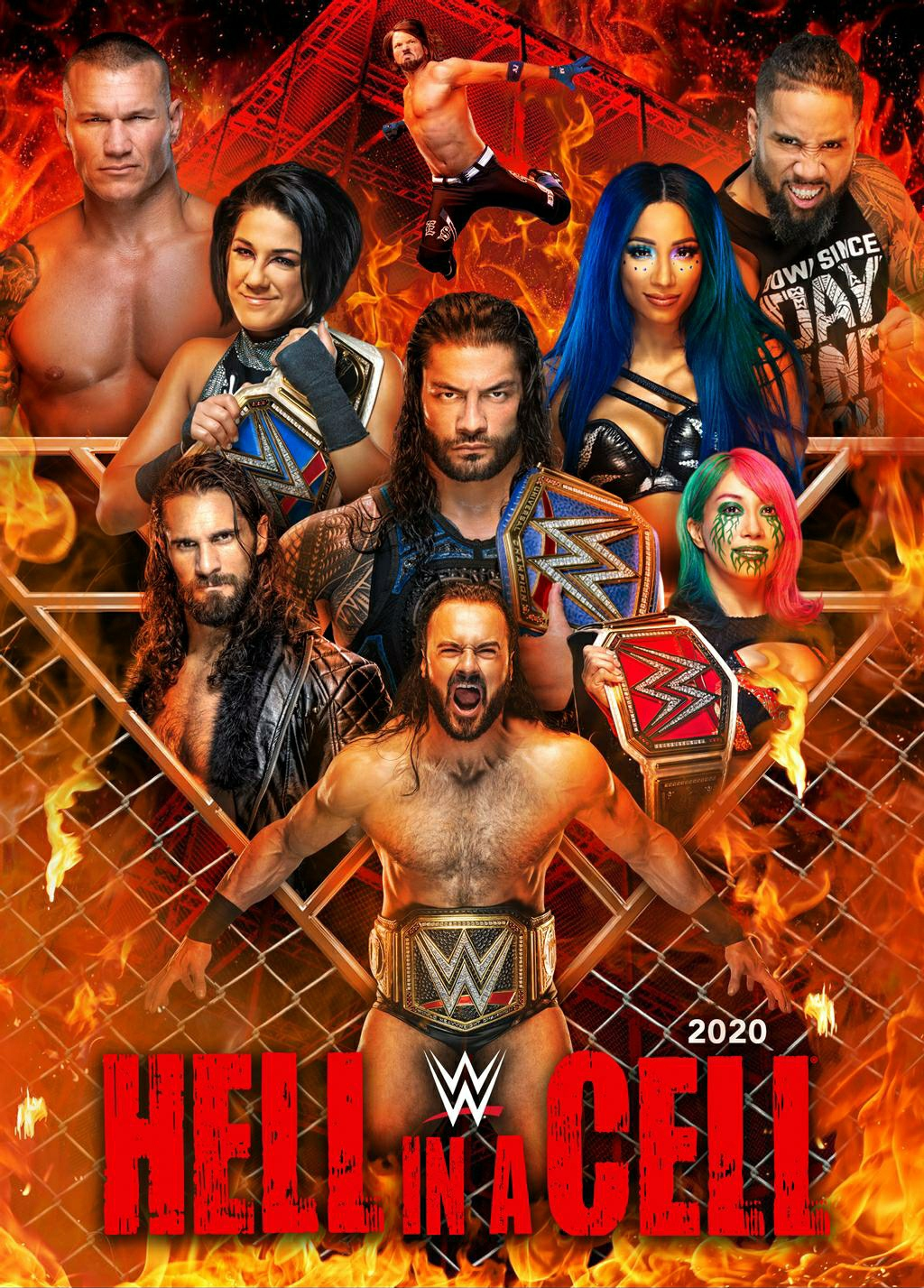 WWE Hell In A Cell 2020 English Kickoff PPV 720p HDRip 1.2GB | 550MB Download