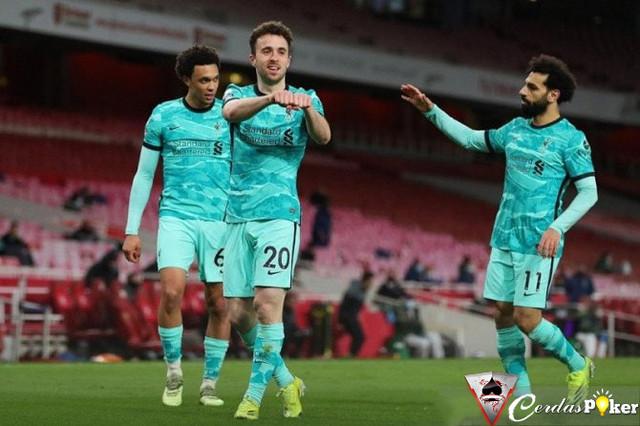 Diogo Jota Pimpin Liverpool Hajar Arsenal 3-0