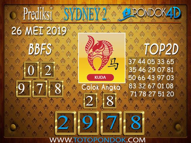 Prediksi Togel SYDNEY 2 PONDOK4D 26 MEI 2019