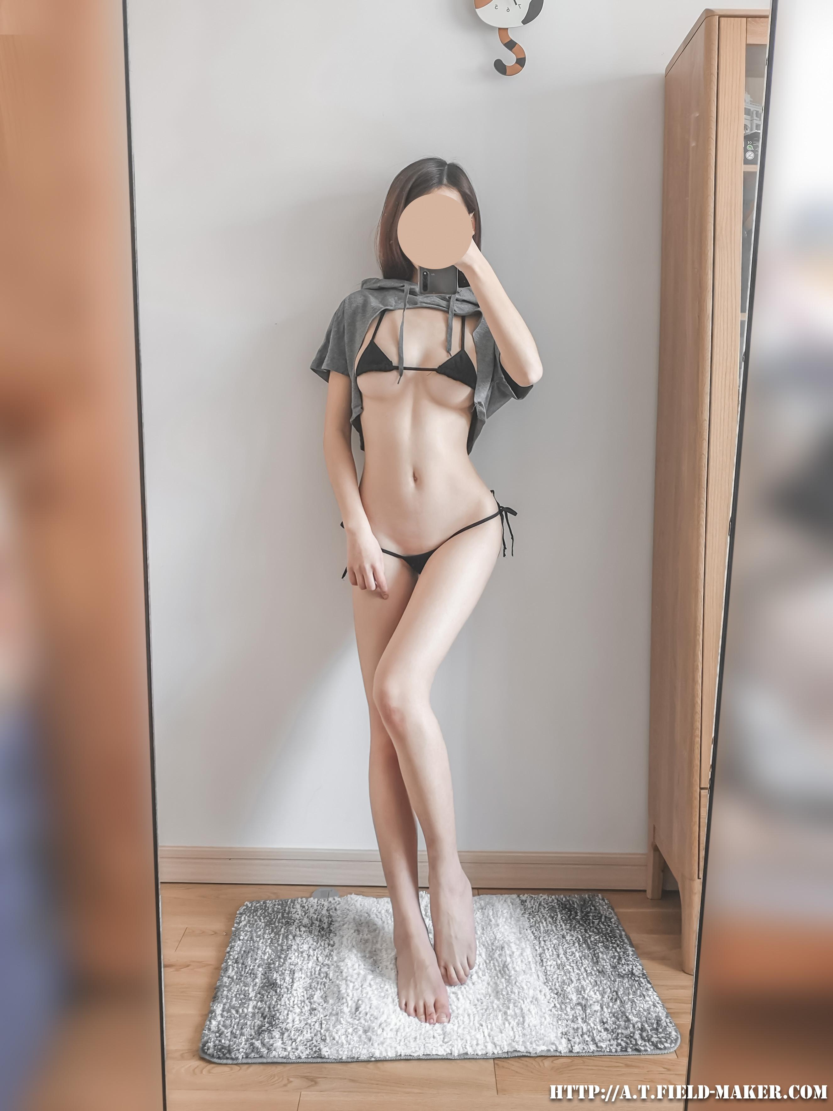 Tsubaki Album Selfie vol.008 Cloak bikini 昼と夜 001