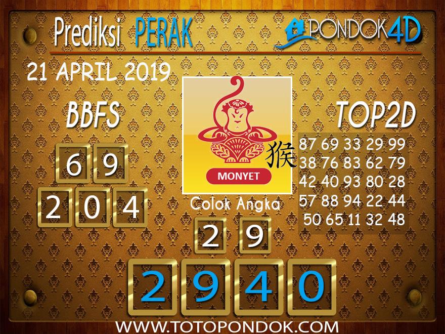 Prediksi Togel PERAK PONDOK4D 21 APRIL 2019