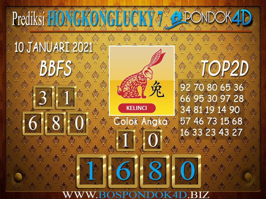 Prediksi Togel HONGKONG LUCKY 7 PONDOK4D 10 JANUARI 2021