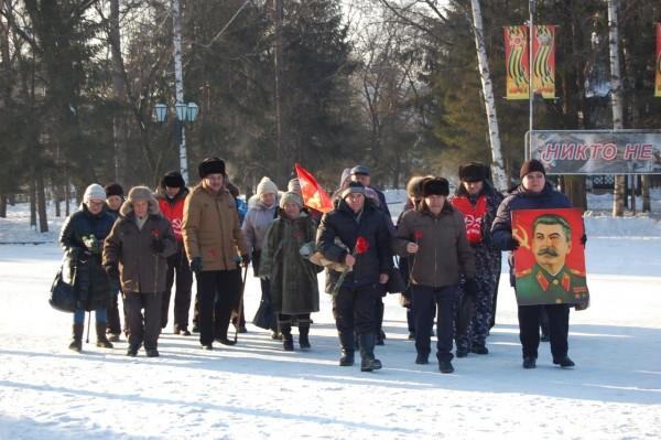 Коммунисты Биробиджана отметили 140-летие со дня рождения И.В. Сталина