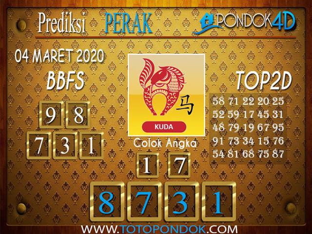 Prediksi Togel PERAK PONDOK4D 04 MARET 2020