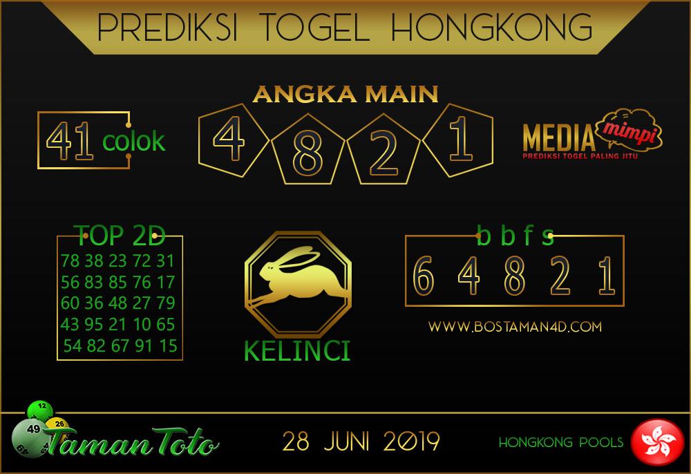 Prediksi Togel HONGKONG TAMAN TOTO 28 JUNI 2019