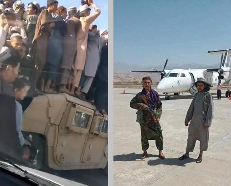 Integrantes del Talibán luego de tomar Kabul
