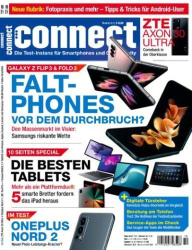 Cover: Connect Magazin für Telekommunikation No 10 Oktober 2021