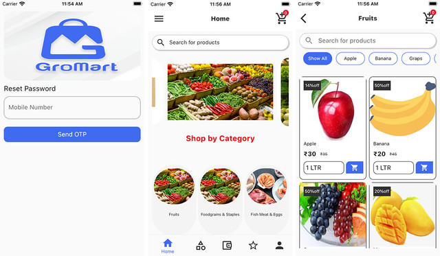 GroMart | Grocery & Vegetables Flutter App Template | UI Kit | Flutter 2.0 - 2