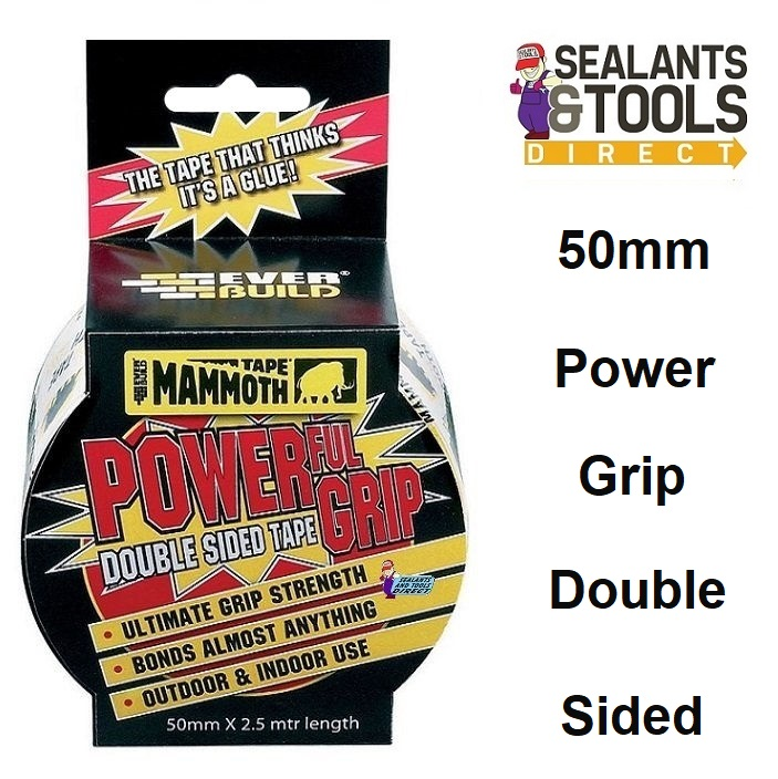 Everbuild Mammoth Powerful Grip Double Sided Tape 50mm 2POWERGRIP50