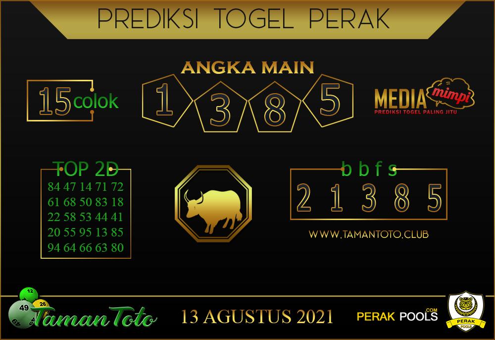 Prediksi Togel PERAK TAMAN 13 AGUSTUS 2021