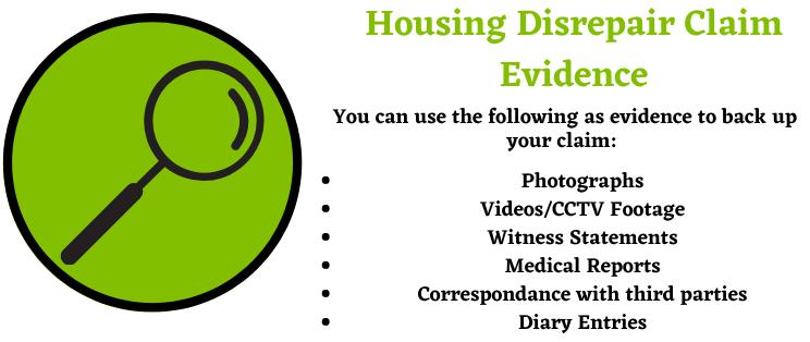 Housing Disrepair Claim Evidence