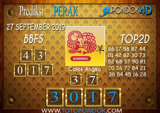 Prediksi Togel PERAK PONDOK4D 27 SEPTEMBER 2019