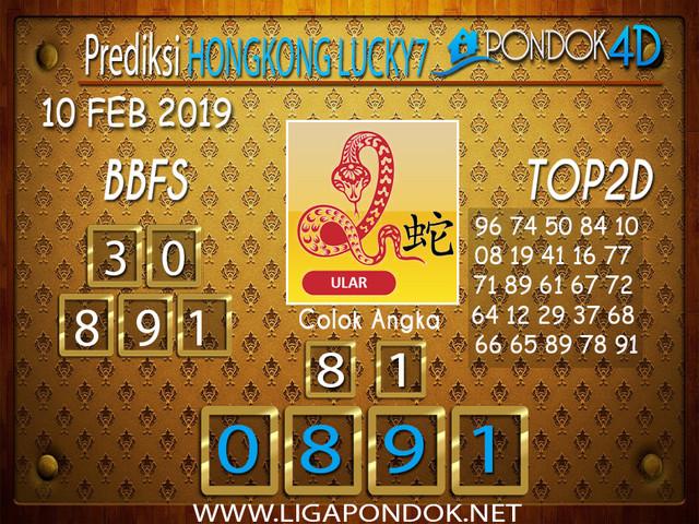 Prediksi Togel HONGKONG LUCKY7 PONDOK4D 10 FEBRUARI 2019