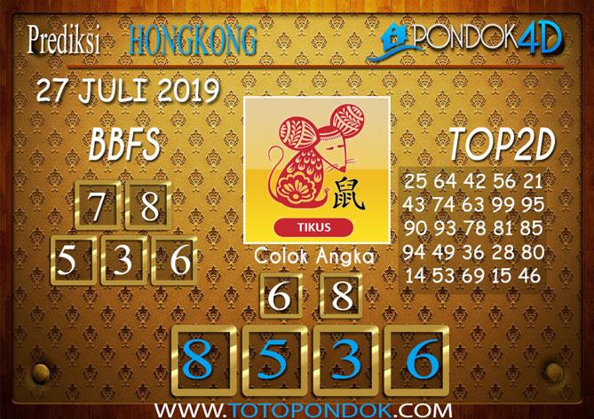 Prediksi Togel HONGKONG PONDOK4D 27 JULI 2019