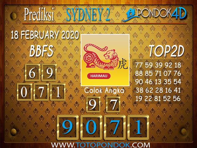 Prediksi Togel SYDNEY 2 PONDOK4D 18 FEBRUARY 2020