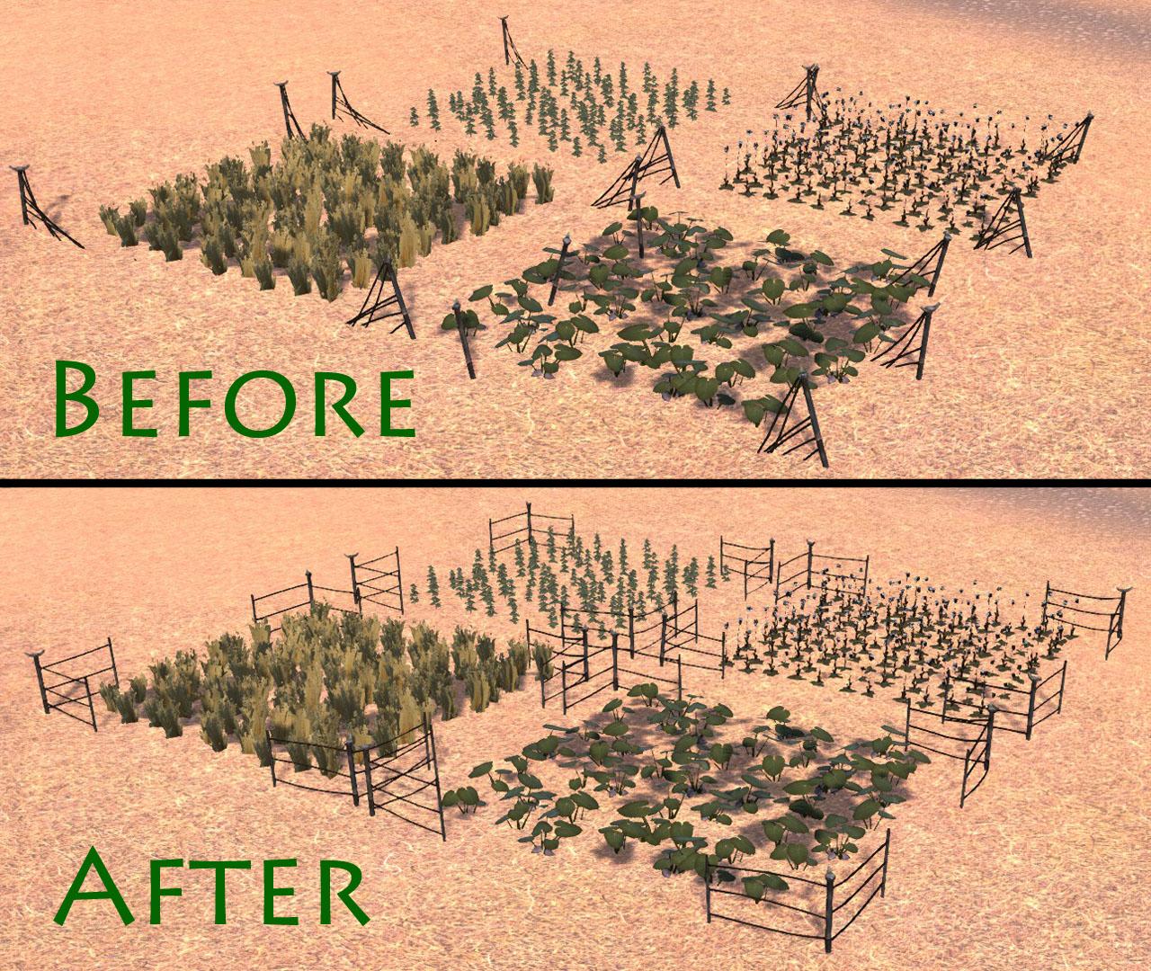 Little Better Farm Fences / Улучшенные заборы у грядок