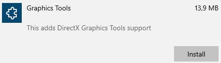 windows 10 graphics tools support