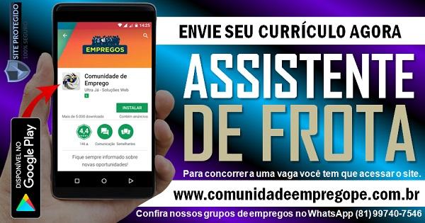 ASSISTENTE DE FROTA COM SALÁRIO DE R$ 1557,05 PARA TRANSPORTADORA