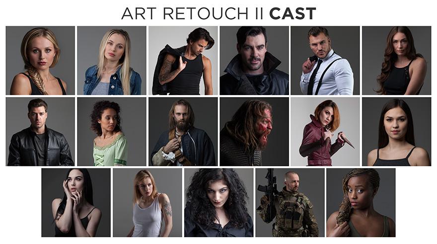 art retouch portraits volume 2 stock photo bundle cast members