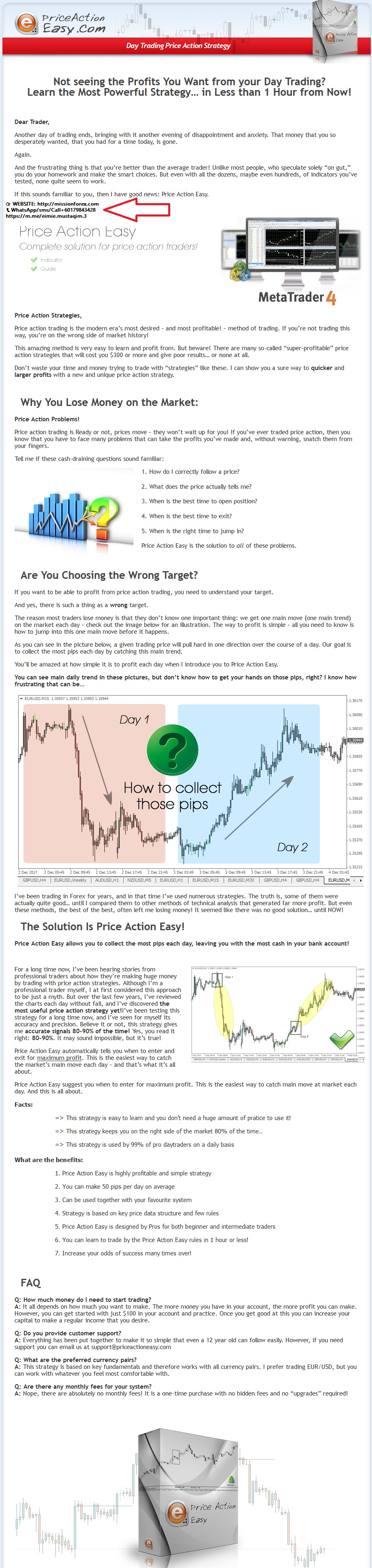 Price Action Easy comes with indicator