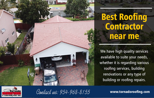 Understanding the Basics of Roof Replacement Contractor Near Me at https://tornadoroofing.com/Services: roof replacement, roof repair, flat roof systems, sloped roof systems, commercial roofing, residential roofing, modified bitumen, tile roofing, shingle roofing, metal roofingFounded in : 1990Florida Certified Roofing Contractor:License #: CCC1330376Florida Certified Building Contractor:License #: CBC033123Find us here: https://goo.gl/maps/qPoayXTwKdyIt is essential to be sure you are hiring the right roof replacement contractors for the job, so when you decide to replace your roof, it's a good idea to get quotes from Roof Replacement Contractor Near Me. Ask if they are familiar with roll roofing, shingles and all the other materials you are considering. Also, make sure they have liability insurance and that they can provide a copy of their contractor's license, as well as a list of references.For more information about our services click below links:https://yelloyello.com/places/tornado-roofing-contractinghttps://www.cityfos.com/company/Tornado-Roofing-Contracting-in-Pompano-Beach-FL-22536373.htmhttps://www.cybo.com/US-biz/tornado-roofing-contracting_10http://www.ibiznessdirectory.com/united-states/pompano-beach/construction-contractors/tornado-roofing-contractinghttps://www.find-us-here.com/businesses/Tornado-Roofing-Contracting-Pompano-Beach-Florida-USA/33044671/ https://www.mobypicture.com/user/roofersnearmehttps://bestroofingcompanynearme.imgur.com/postsContact Us: Tornado Roofing & ContractingAddress: 1905 Mears Pkwy, Pompano Beach, FL 33063Phone: (954) 968-8155Email: info@tornadoroofing.comHours of Operation:Monday to Friday : 7AM–5PMSaturday to Sunday : Closed