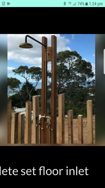 This was the inspiration for an outdoor shower