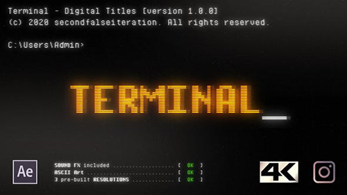 Terminal - Digital Titles 25682135 - Project for After Effects (Videohive)